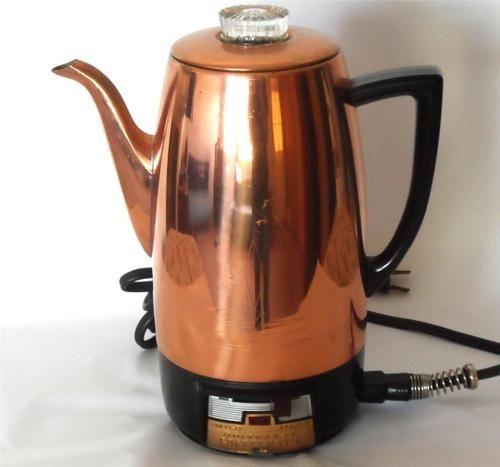 VINTAGE UNIVERSAL COFFEEMATIC COPPER PERCOLATOR