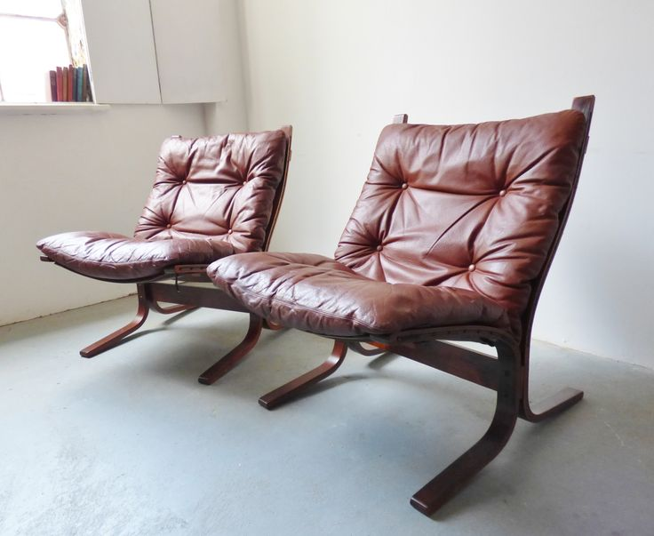 Vintage Siesta lounge chairs by Ingmar Relling