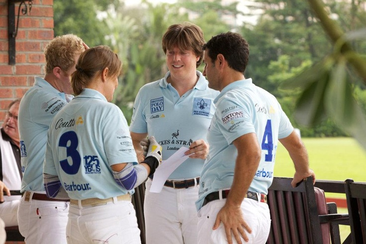 The Backes and Strauss' Polo team refining its strategy before the game - Discover more on www.backesandstrauss.com
