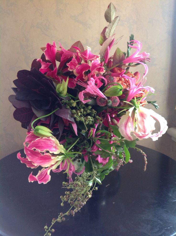 Bridal bouquet - autumn brights