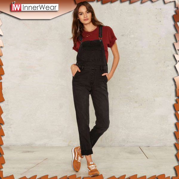 Adjustable Strap Button Pockets Overall Jumpsuit Preppy Style Casual Denim Jumpsuit........................................  Price : $28.38