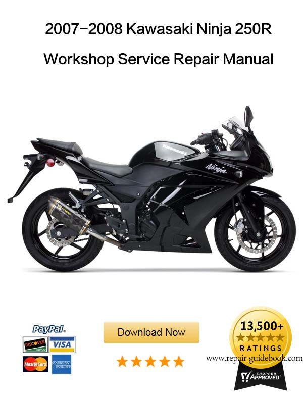 2007 2008 Kawasaki Ninja 250r Service Repair Manual Kawasaki
