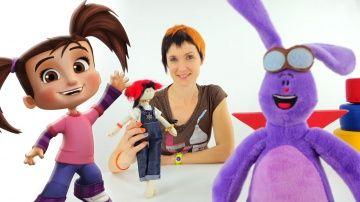 """Маша и мультфильм Катя и Мим Мим. 3D мультики для детей и видео про игрушки http://video-kid.com/9942-masha-i-multfilm-katja-i-mim-mim-3d-multiki-dlja-detei-i-video-pro-igrushki.html  Видео для детей от 2х лет Маша и Мультфильм это детская передача, в которой Маша, ее кукла Маша и Кей-Кей знакомятся с новой игрушкой. Это плюшевый зайка из мультика Катя и Мим-Мим. Игрушечный заяц может стать живым, если произнести вслух слова """"Мим-Мим, дружок, ты оживи. Со мной скорей поговори""""! Давайте…"""