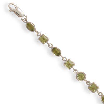 """7"""" Peridot Link Bracelet Jewelry Dreamer. $113.72"""