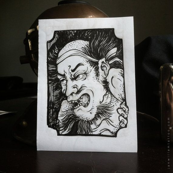 Warrior card by Janwillemtattoo on Etsy