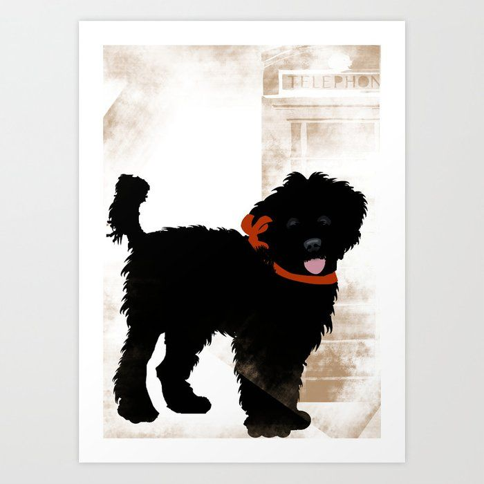 Black Labradoodle Dog Art Print By Ialbert X Small In 2020 Labradoodle Art Labradoodle Painting Dog Print Art