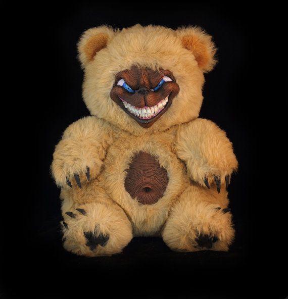 Savage Sable scary handmade artist teddy bear