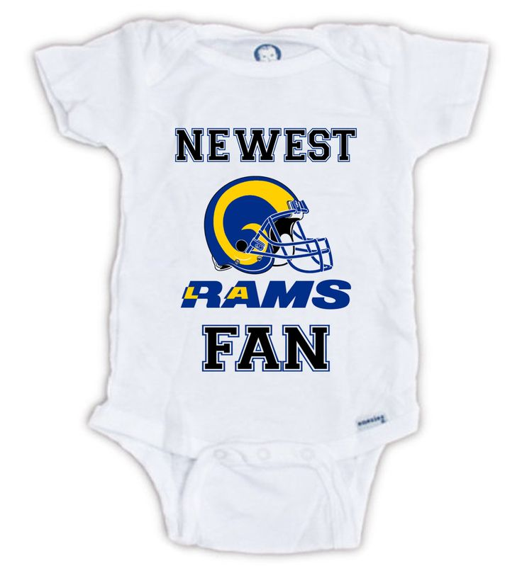 Los Angeles RAMS Newest FAN Baby Onesie, Baby Bodysuit, Football Onesie, Great Baby Shower Gift, Mother's Day, Father's Day, Sportsfan by JujuApparel on Etsy