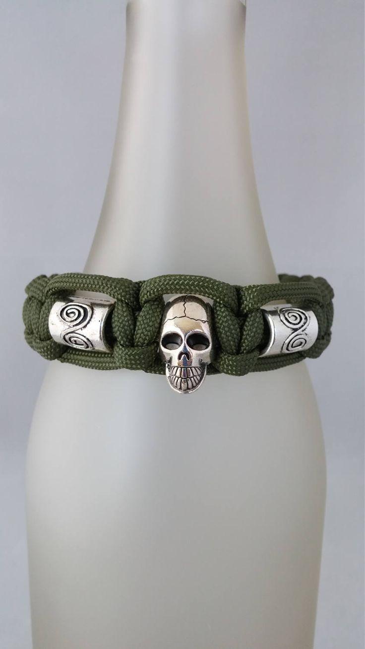 Mens Paracord Bracelet Mens Skull Bracelet Mens Skull Bead Bracelet Mens  Bracelet Mens Jewelry Paracord Skull Bracelet Mens Paracord Jewelry