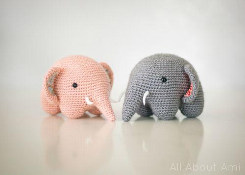 Easy Amigurumi Elephant : Wonderful DIY Crochet Adorable Elephant Crochet elephant ...