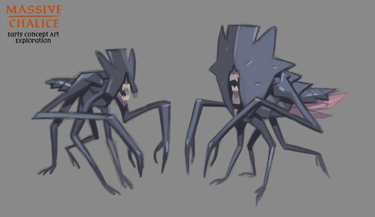 Double Fine Action Microblog — MASSIVE CHALICE: Demon concept art This gorgeous...