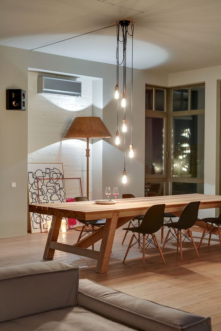 Stylish Loft in Kiev by Slava Balbek and Sasha Ivasiv 9 Spacious Modern Loft in Kiev Decorated with Stylish Details and Framed Cityscapes