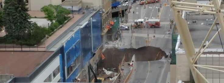 Large sinkhole opens in downtown Ottawa, gas leak prompts evacuations, Canada