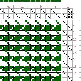 Hand Weaving Draft: No 11. Bags (Wove Whole)., J. and R. Bronson, 6S, 6T - Handweaving.net Hand Weaving and Draft Archive