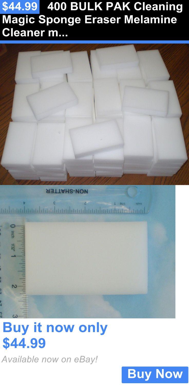 household items: 400 Bulk Pak Cleaning Magic Sponge Eraser Melamine Cleaner Multi-Functional Foam BUY IT NOW ONLY: $44.99