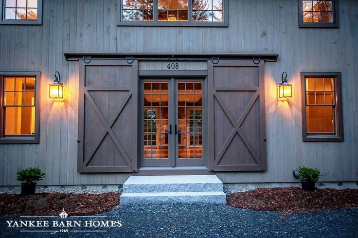 Barn doors come in all shapes and sizes. Interior, exterior, sliding, hinged, and stationary are just a few of the different styles we've used at Yankee Barn. If the barn door exists (and sometimes when it hasn't), Yankee Barn has most likely incorporated it into one of our designs.