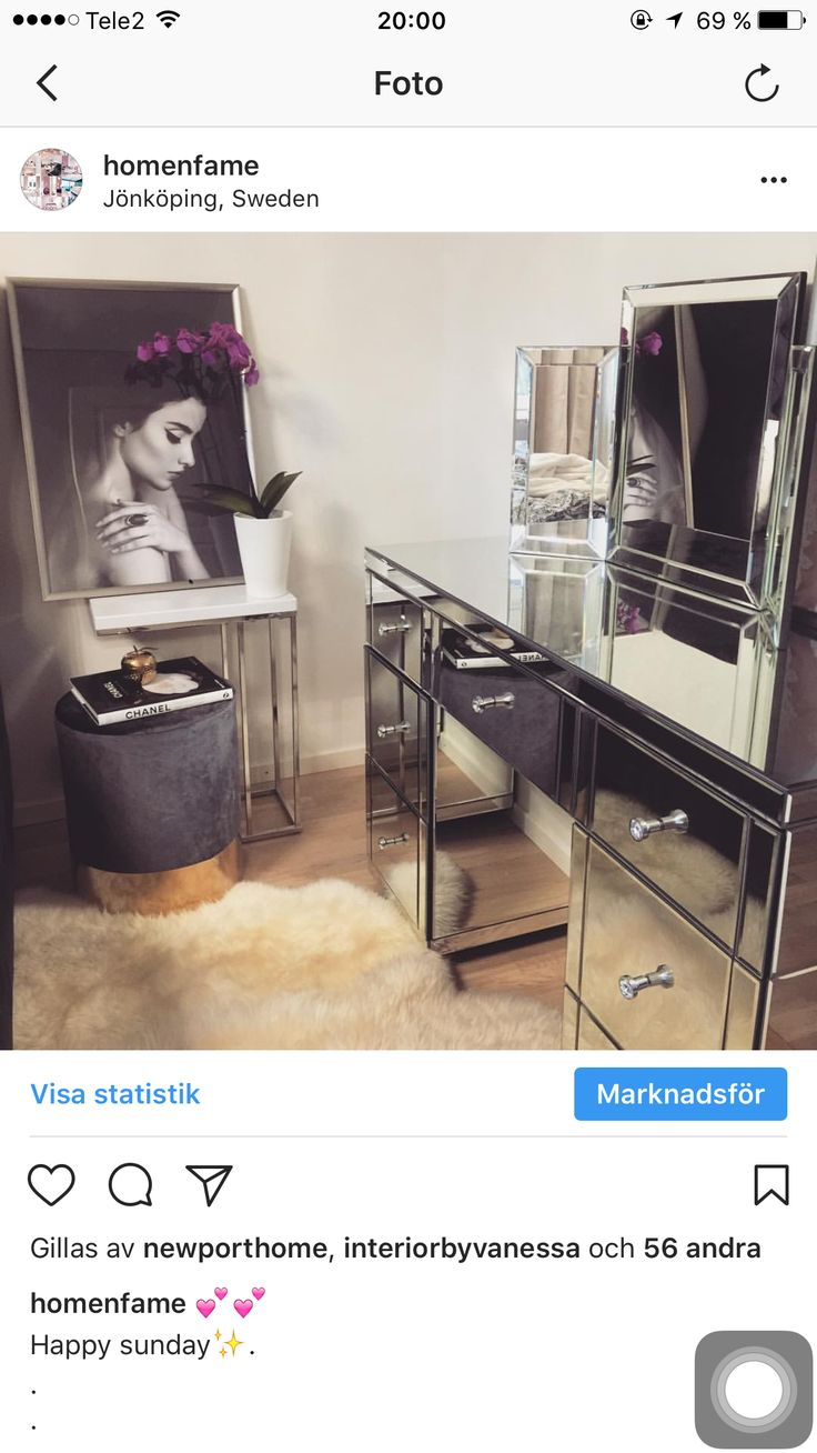 #Dressing table/ #sminkbord/ #sovrum #bedroom #inredning #makeup/ #table / #toalettbord