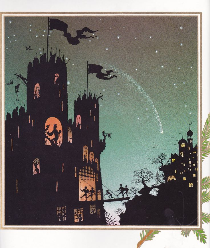 Christmas by Jan Pienkowski 1984 ><><  Incredible illustrations for the Christmas story told from the King James. They're like a medieval miracle play in silhouette.   2 of 6