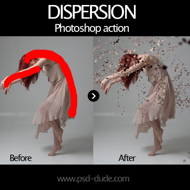 Dispersion Effect Photoshop Free Action   PSDDude