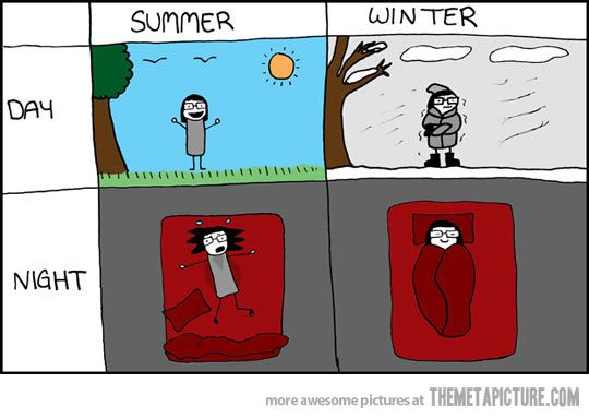 Summer vs. Winter…