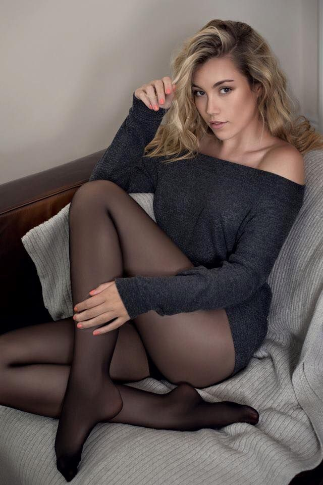 Exposed thigh high stockings