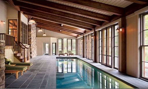 indoor pools. Bigger and wider pool 25 meters and built in hot tubs integrated in the pool as well as a storage room, tank room, and changing station/toilet and ropes.