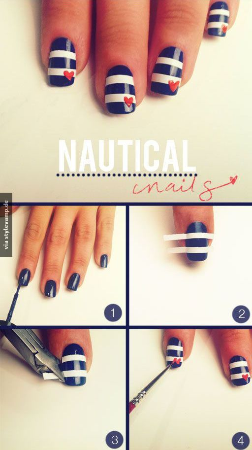 Ahoi - Nägel im Marine Look *___*