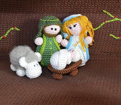 nativity scene crochet (free pattern)