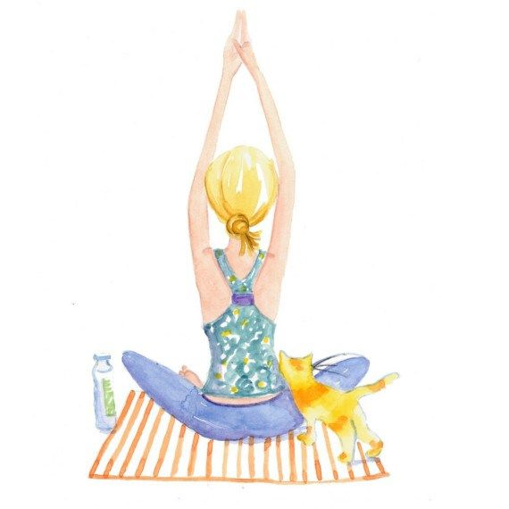 6 bonnes raisons d'aller au #YogaFestival à #Paris – Formally Informal by Julie Duval #yoga illustration par MonicaLee