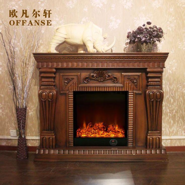 European American wood fireplace Curio 1.5 m heating electric fireplace mantel Roman