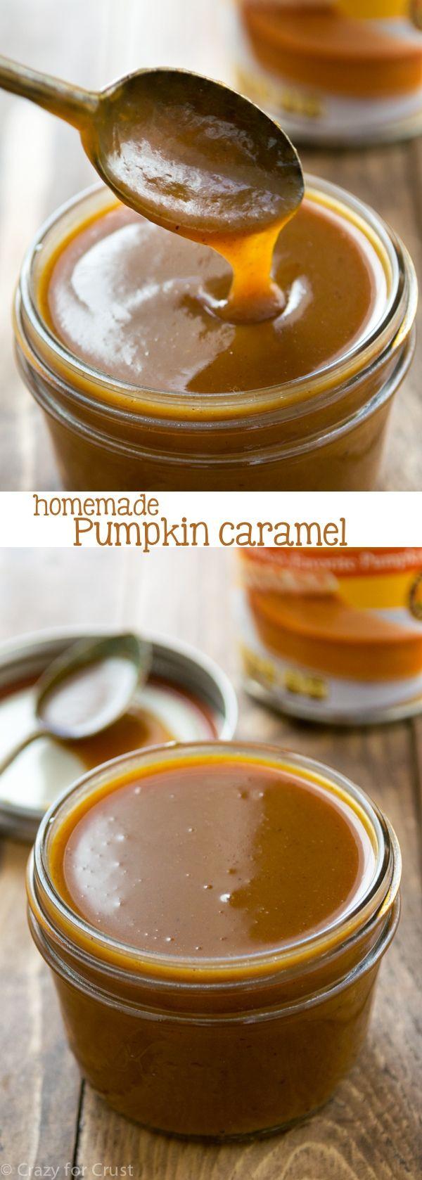 Receta de salsa de caramelo - caramelo infundido con puré de calabaza para el otoño!