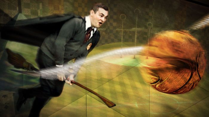 Quidditch is the magical game played on flying broomsticks by the characters of Harry Potter the books by JK Rowling. As in, it's made up! But try telling that to the growing numbers of Muggles whose lack of magical powers won't keep them off a broomstick. Here's Matt.