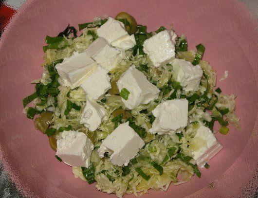 Салат з черемшою і фетою