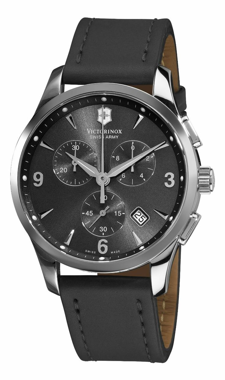 Victorinox Swiss Army 241479 Alliance Black Chronograph Dial Watch