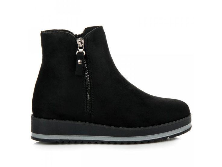 Čierne topánky na platforme Kamila