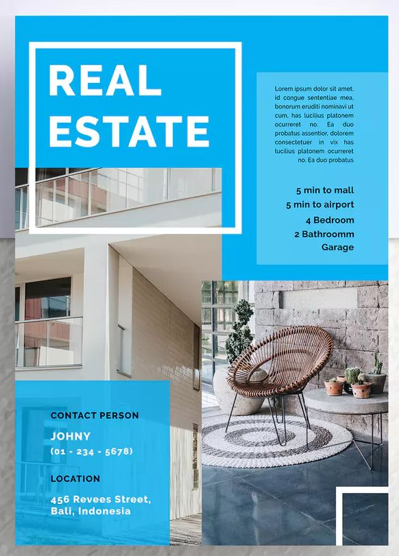 Kledung Professional Real Estate Flyer Template PSD - A4 Download