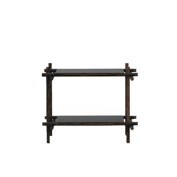 Menu Stick System 1 x 2 hylly, musta | Kirjahyllyt | Huonekalut | Finnish Design Shop