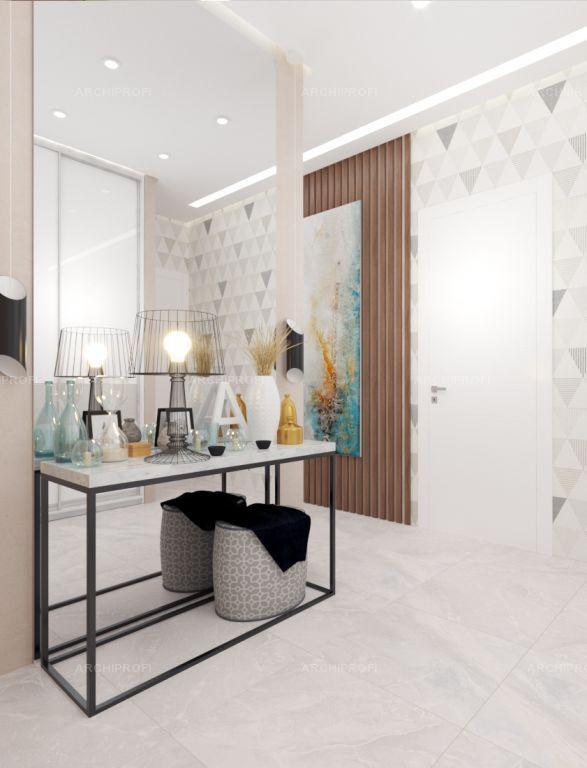 Interior design by VITTAGROUP Дизайн квартиры в ЖК Смежный Коридор Елена Пономаренко