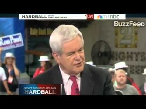"GO  GET  'EM;  Gingrich OWNS Chris Matthews...asks him ""ARE YOU A RACIST?"""