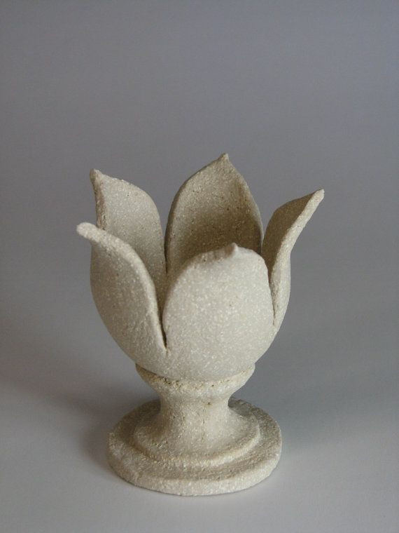 Rustic Stoneware Ceramic Egg Cup  Tulip by ReclaimedBespoke