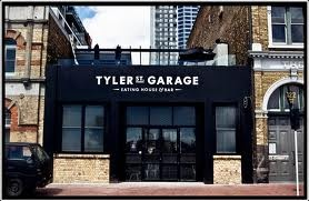 Tyler Street Garage.  Best for after work drinks.  Frequented by stylish young professionals.  Garden bar upstairs brilliant albeit small.  Vibrant atmosphere so good for taking a group.  If you're looking for intimate, go someplace else.
