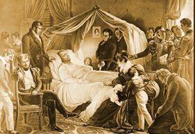 La mort de Napoléon par Steuben (1828)