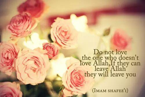 Love Allah first.