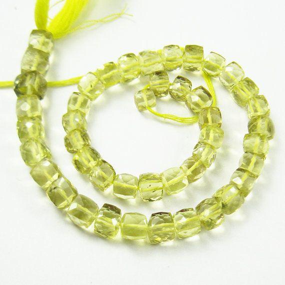 Lemon quartz faceted box beads by jewelsexports, $42.52