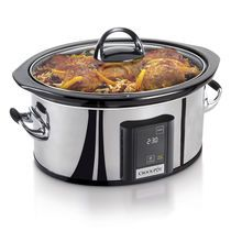 Crock-Pot® Countdown Touchscreen Digital Slow Cooker, Polished Stainless Steel