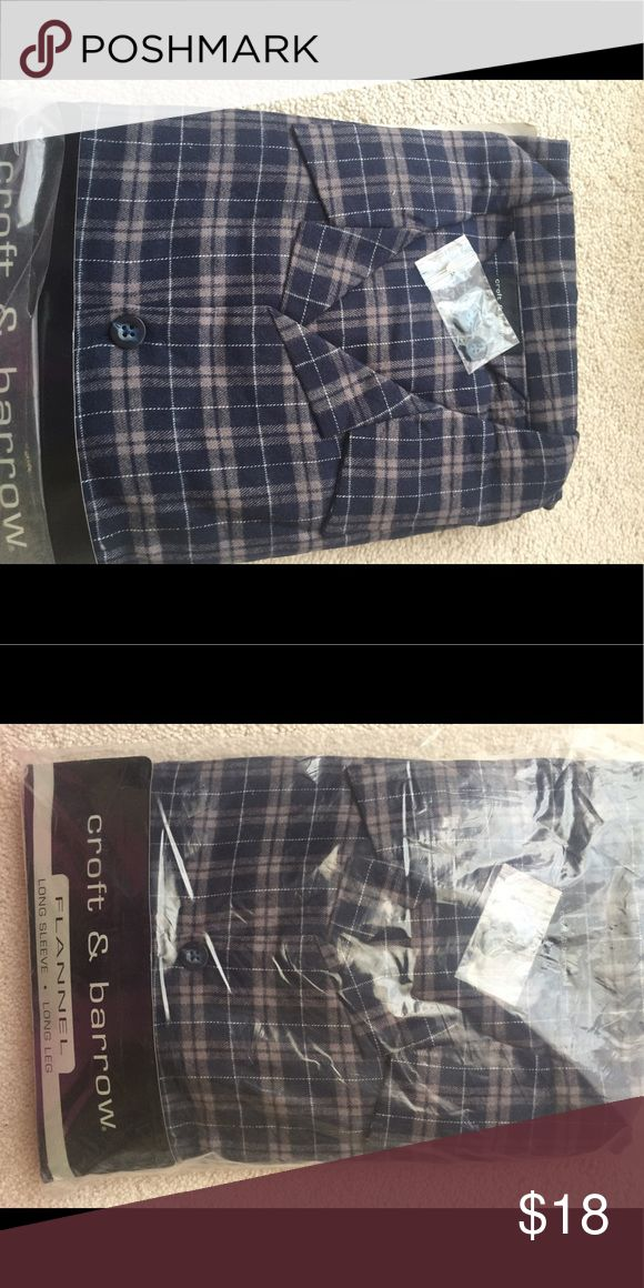 Men's flannel pajamas ❄️☃️Men's Flannel Pajamas, still New with tags croft & barrow Other