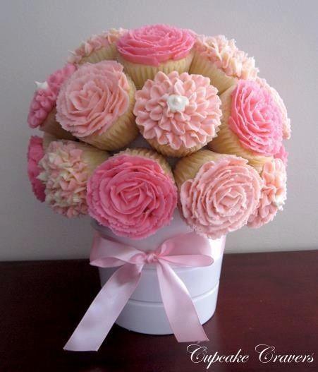 Hermoso ramo de cupcakes