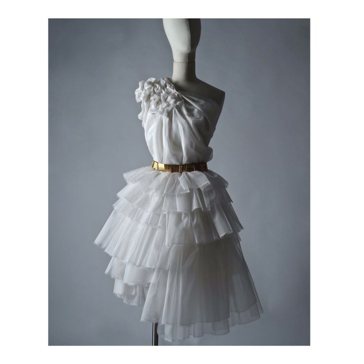 Top and Skirt, Hand Constructed from silk organza