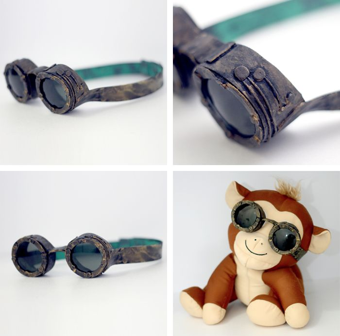 Steampunk Goggles - Oculos Steampunk  Template Download Cake Lie Blog