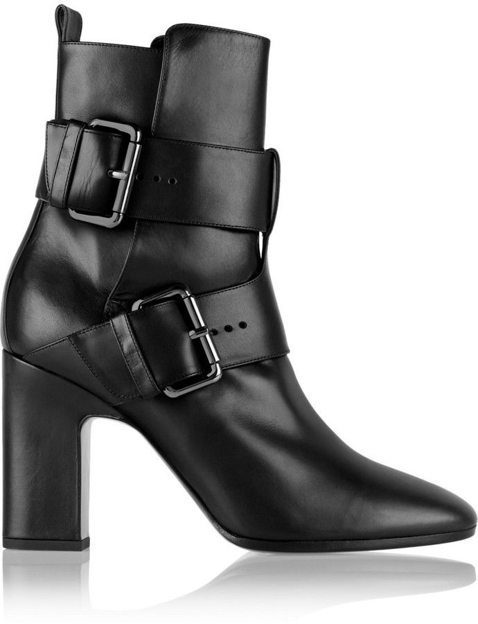 $722, Pierre Hardy Tom Leather Ankle Boots. Sold by NET-A-PORTER.COM. Click for more info: https://lookastic.com/women/shop_items/287791/redirect